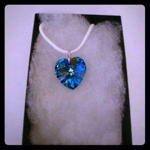 Jewelry - Honolulu Blue Crystal Heart Necklace
